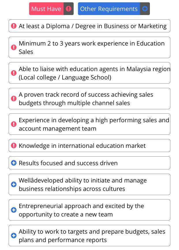Job : REGIONAL SALES AND MARKETING MANAGER (EDUCATION INDUSTRY)