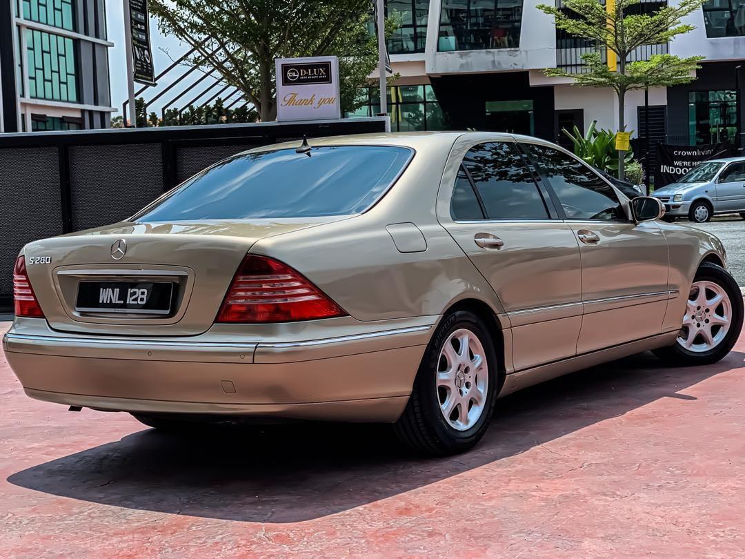 JUALAN TUNAI SAHAJA - CASH DEAL ONLY  MERCEDES BENZ S280 2.8CC V6 TAHUN : 2005