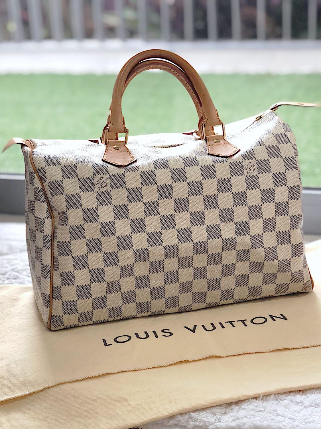 59b90a789b7 Louis Vuitton Speedy 30 Damier Azur Canvas Tote, Women's Fashion ...