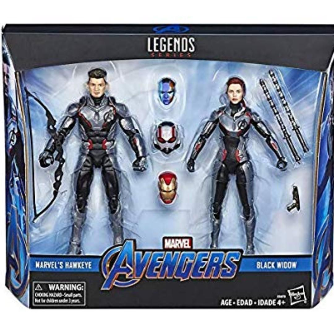 MARVEL LEGENDS AVENGERS END GAME HAWKEYE & BLACK WIDOW QUANTUM SUIT 2 PACK