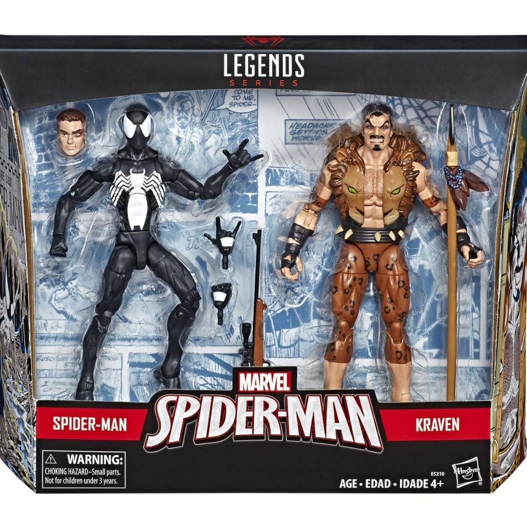 MARVEL LEGENDS marvel legends spider man kraven 2 pack figure