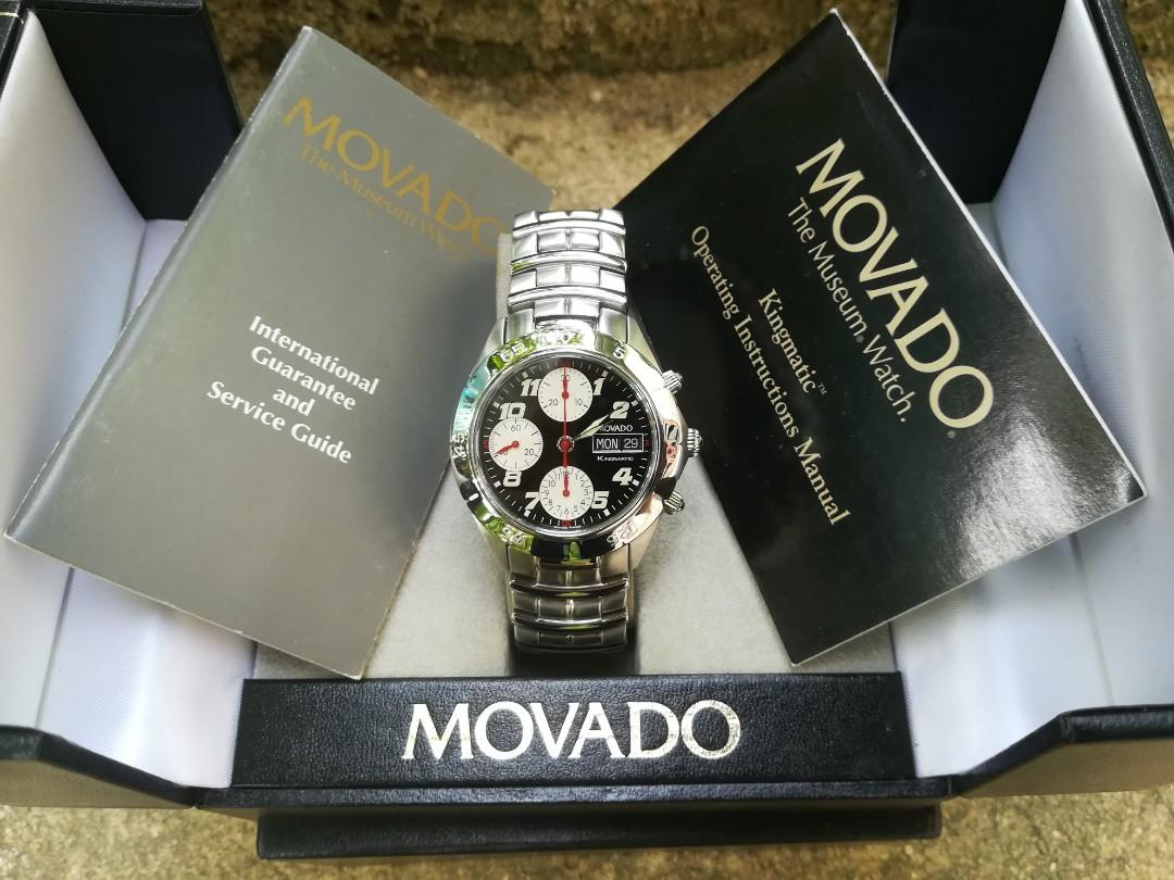 NEW Movado Kingmatic Automatic Chronograph Valjoux 7750 Vintage Watch