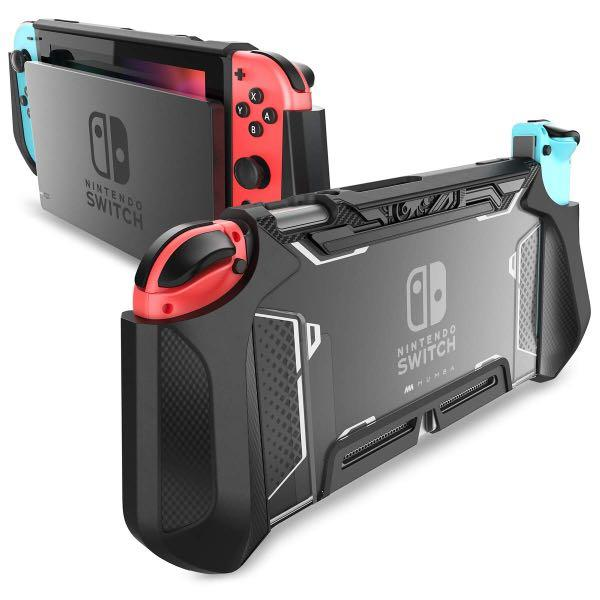 Mumba [Blade Series] TPU Grip Protective Cover Dockable Case for Nintendo Switch. Compatible with Nintendo Switch Console and Joy-Con Controller