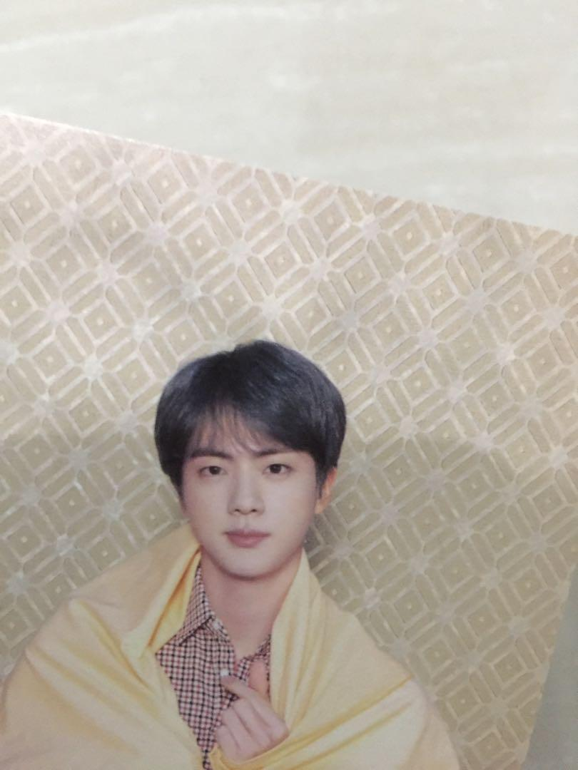Official BTS jin Postcard - PERSONA MAP OF THE SOUL