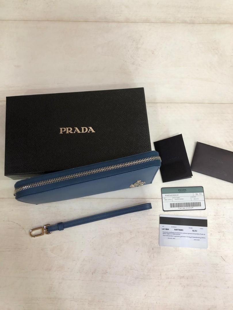 PRADA wallet 1M1188A, SUPERMIRROR, w20.5xh12xd2cm   H @700rb  (Dijamin Bagus, Mirip Asli)