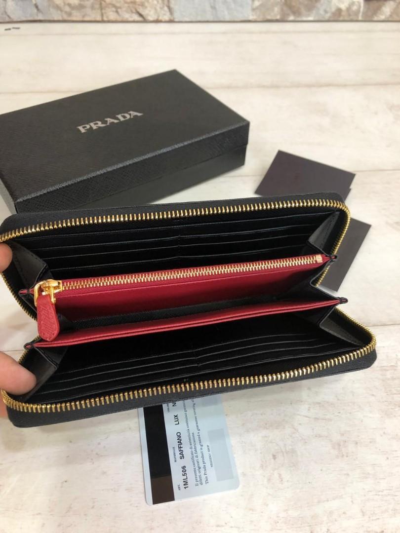 PRADA wallet 1ML506, SUPERMIRROR, w20xh10.5xd2cm  H  @680rb  (Dijamin Bagus, Mirip Asli)