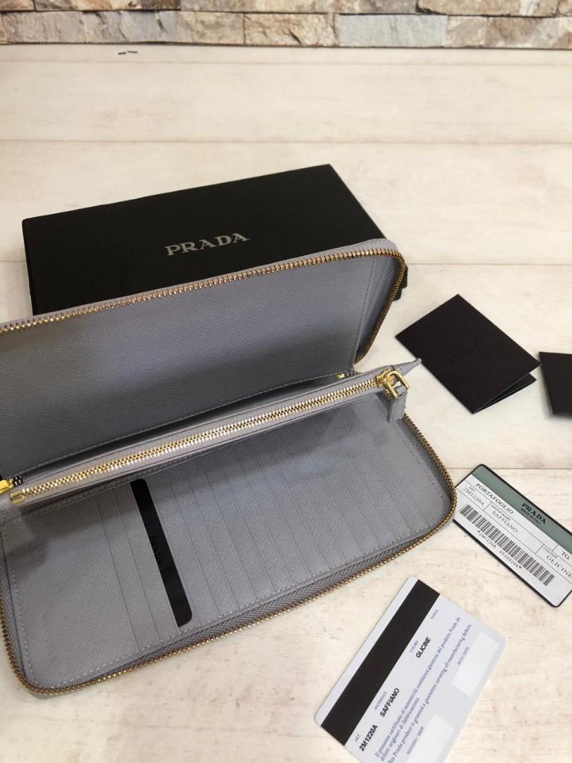PRADA wallet 2M1220A, SUPERMIRROR, w22xh12.5xd2cm,  H  @680rb  (Dijamin Bagus, Mirip Asli)