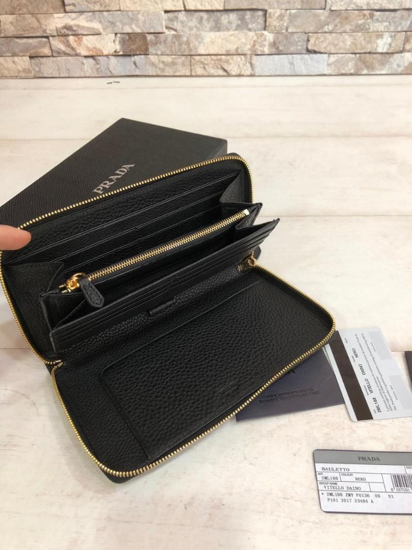 PRADA wallet 2ML188, SUPERMIRROR, w21xh12xd2cm, Harga ada Sale dari Supp   H @700rb  (Dijamin Bagus, Mirip Asli)