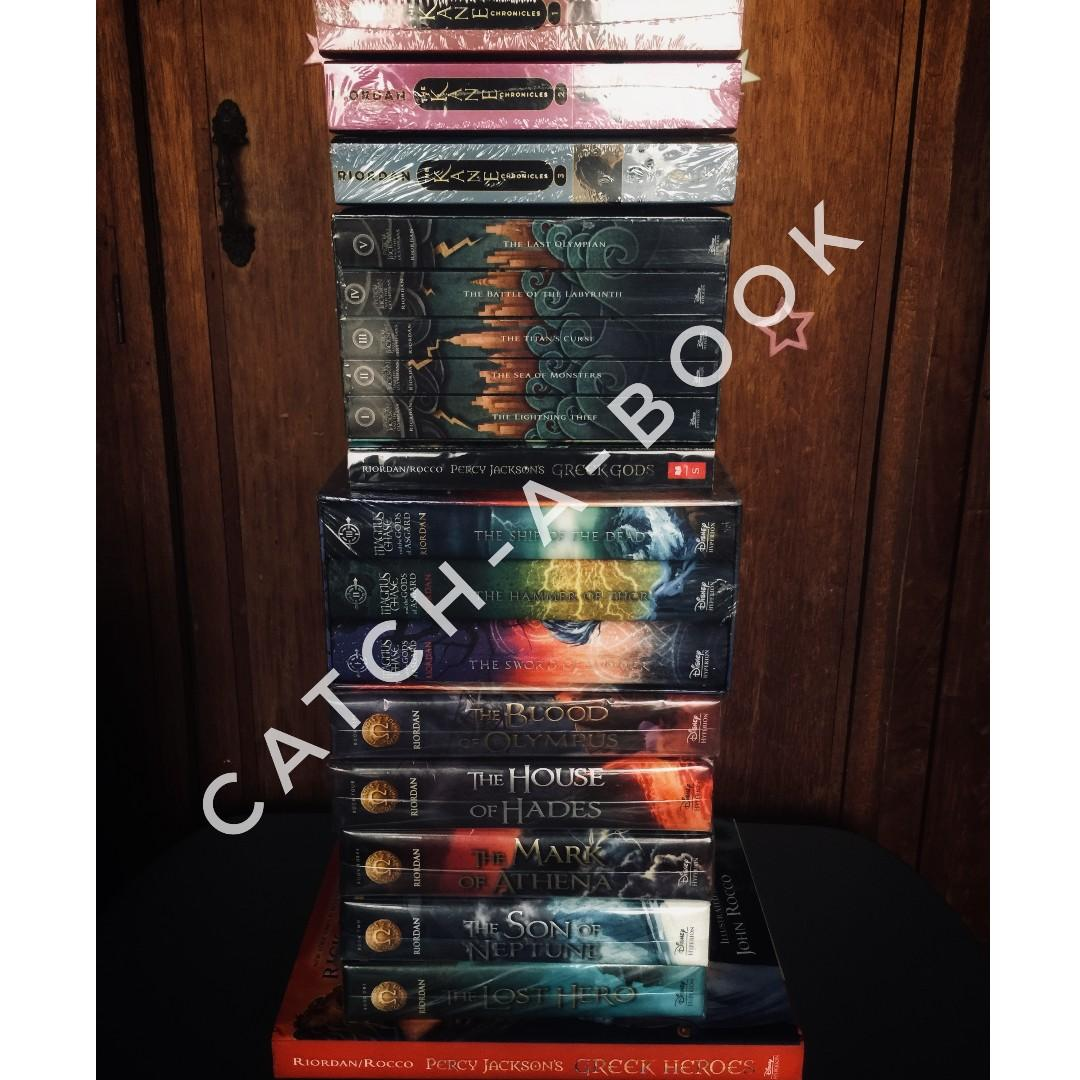 RICK RIORDAN COLLECTION: KANE CHRONICLES, PERCY JACKSON, HEROES OF OLYMPUS, GREEK GODS, GREEK HEROES