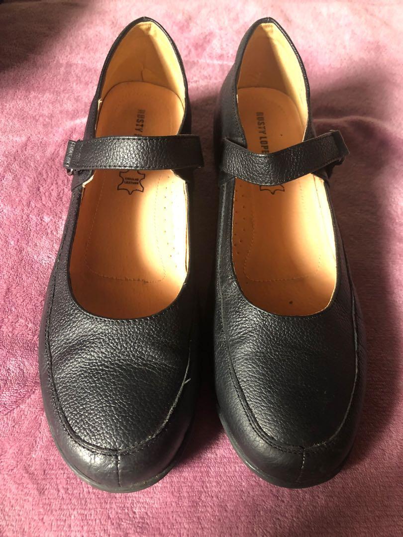 Rusty Lopez Black School Shoes, Women's