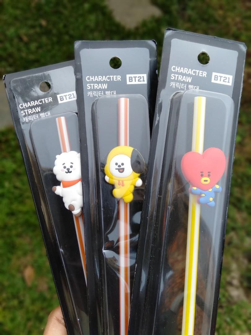 Sedotan/stainless straw BT21 RJ, TATA, CHIMMY OFFICIAL