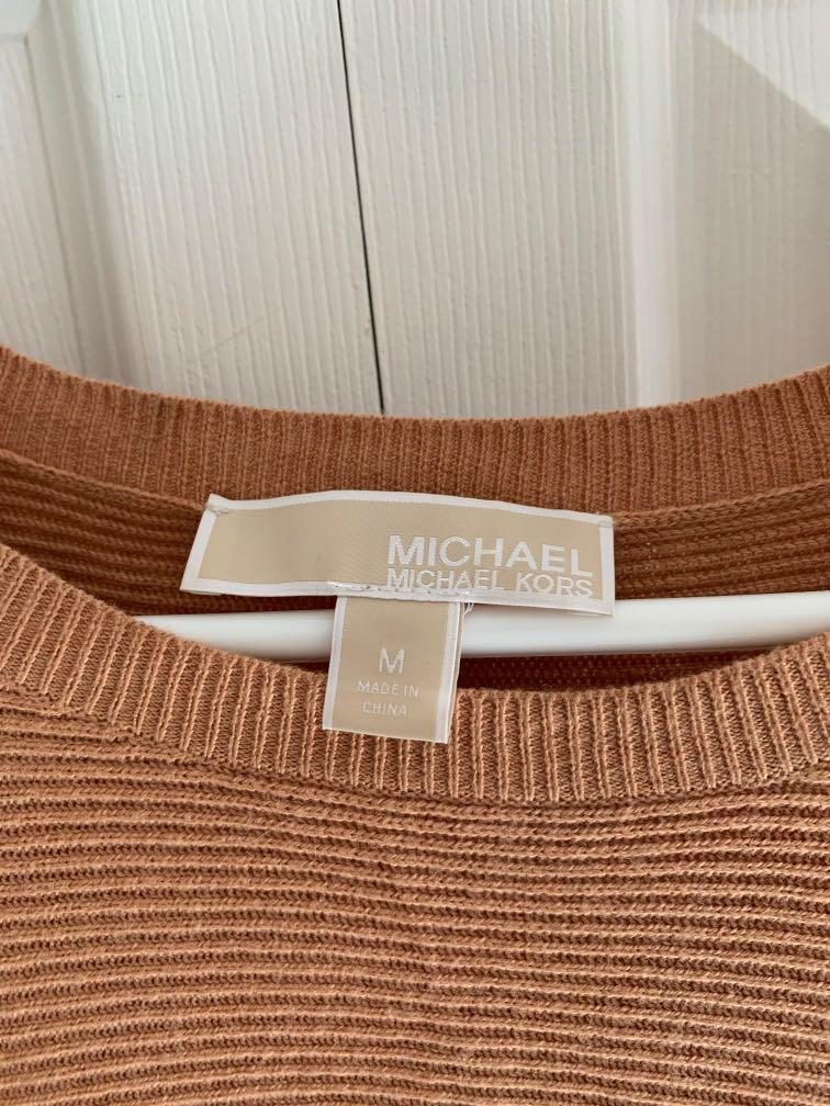 Size medium Michael Kors poncho sweater with removeable faux fur neck