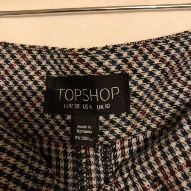 Top shop gingham pants