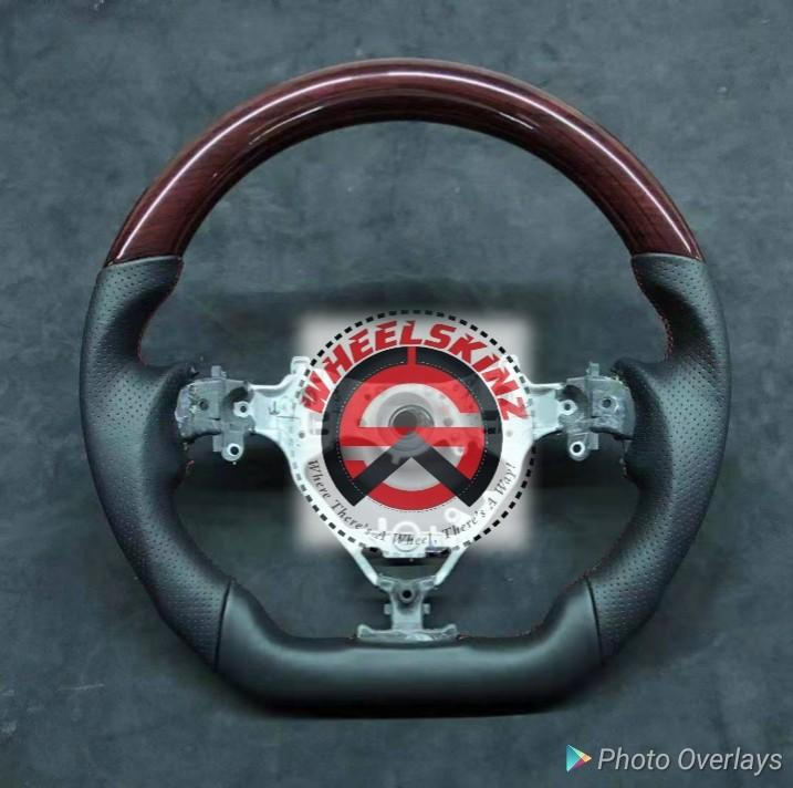 Toyota harrier aftermarket steering wheel with wooden trims