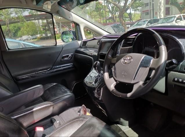 Toyota vellfire 3.5l for rent