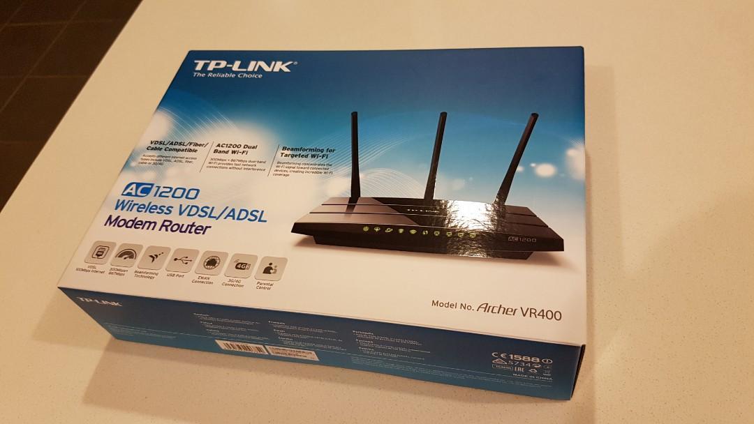 TP-Link Archer VR400 AC1200 Wireless VDSL/ADSL Router