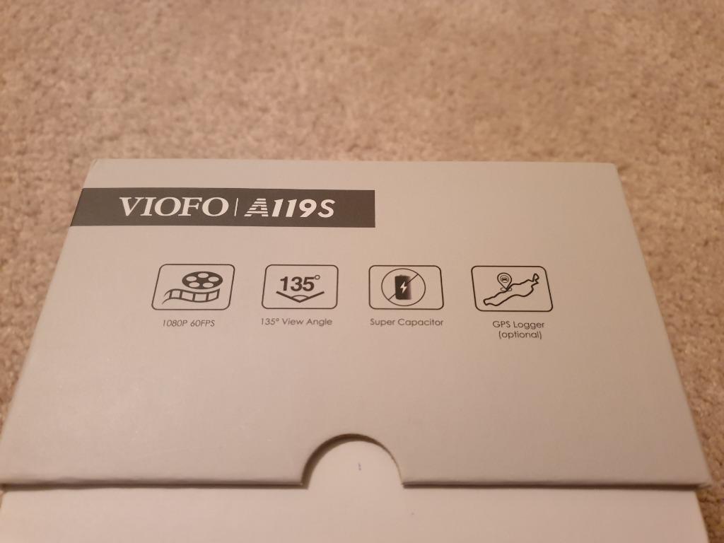VIOFO A119S GPS Dash Camera Recorder V2 1080P 60FPS