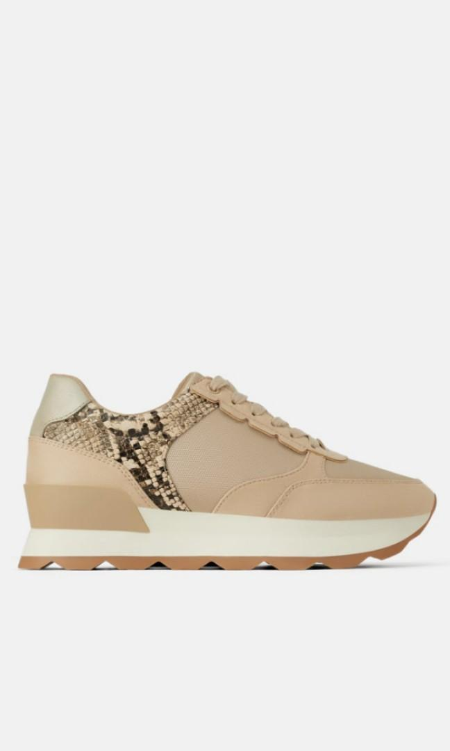 zara snakeskin sneakers on sale 7250a d4c90