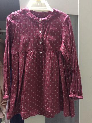 Mango cotton blouse tag 3/4y
