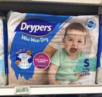 Drypers S 82pcs