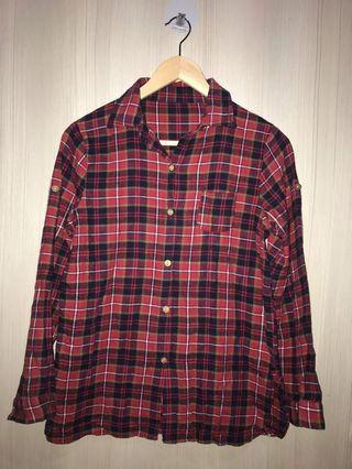 [WOMEN] FLANEL SHIRT IN RED SQUARED FREESIZE