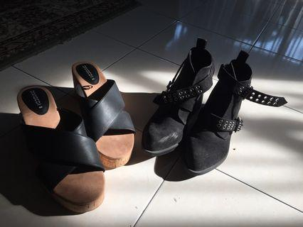 HnM H&M Divided Black Boots and Wedges