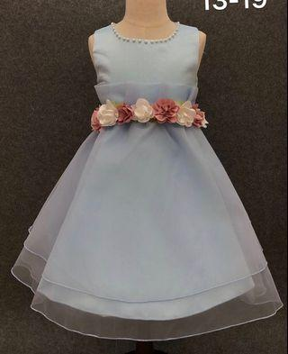 Light blue evening party dress