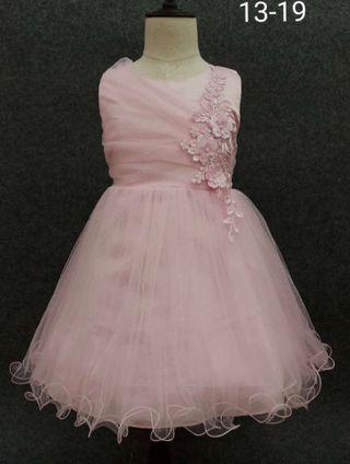 Pink evening party dress