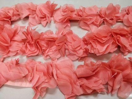 "Chiffon flower bunga pink 10meters (394"")"