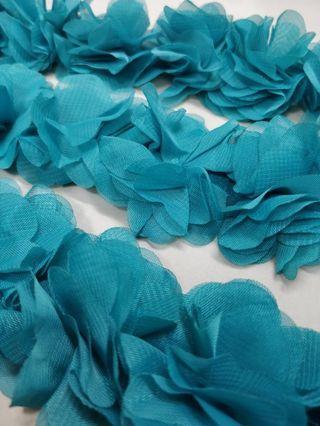"Chiffon flower bunga Blue 10meters (394"")"