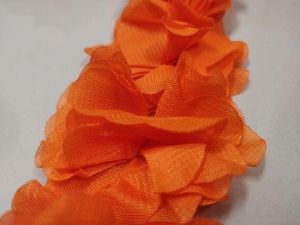 "Chiffon flower bunga Orange 10meters (394"")"
