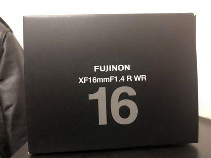 Fujifilm xf 16mm f 1.4