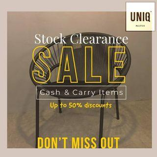 CASH & CARRY ITEMS CLEARANCE