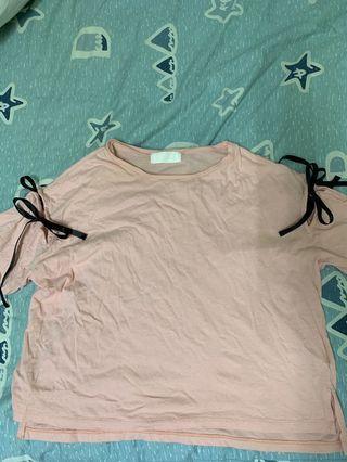 日系品牌緞帶上衣
