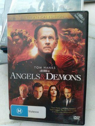 Dvd angels & demons tom hanks