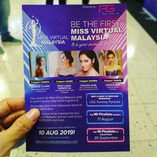 Participate in Miss Virtual Malaysia now ( FREE)