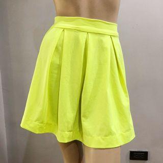 Yellow-Green Skater Skirt