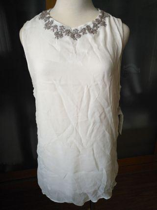 Brand new Zara handmade embroidery sheer top