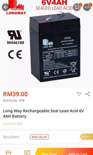 2 x 6V Rechargeable Battery for Kids Electric Car