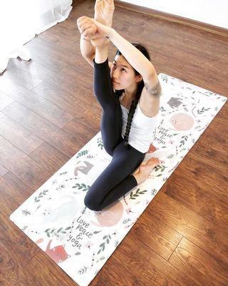 正品SIGEDN高質感防滑瑜珈墊,2mm厚度,瑜珈貓款
