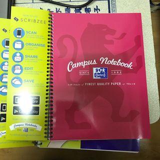 「含運」牛津筆記本A4 Oxford Campus Notebook