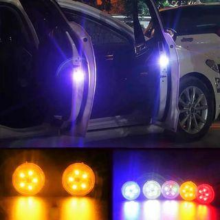 Car styling Openning Door Warning Flash Lamp Safety Indication Wireless Anti-Collision signal light parking lamps