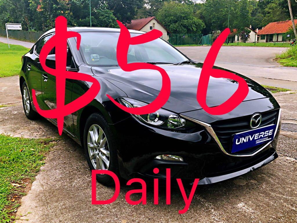 2016 Mazda 3 1.6 Auto ( Minimum 6 Month Contract )