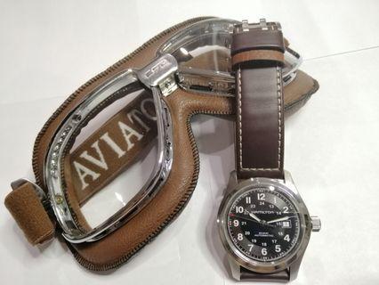 Original Hamilton Khaki Auto 42mm Seiko Diver Omega SpeedMaster Rolex Swiss made