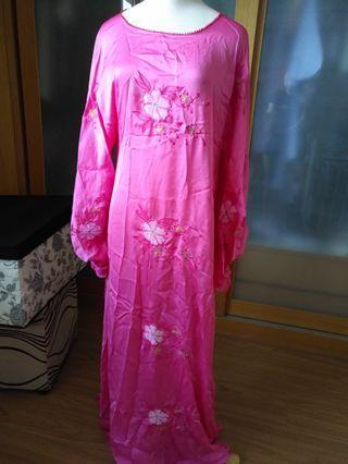 Pink Malay dress jubah