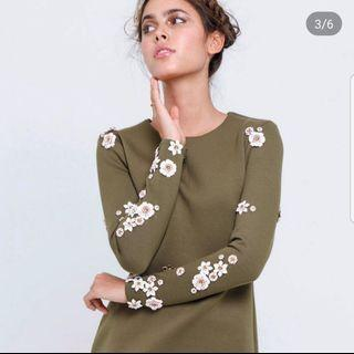 Kree Zaitun Olive Top Embellished (TOP ONLY)
