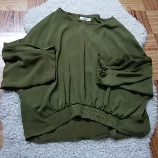 Blouse Dark Green