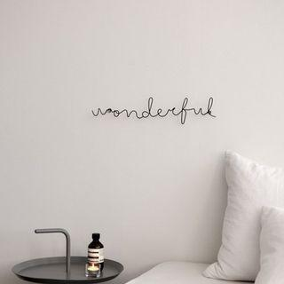 Wire Wording/Alphabet Wall Decor