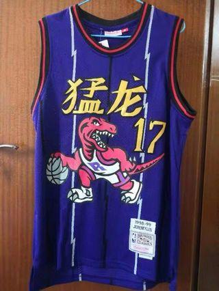 🔥NBA vintage jersey Toronto Raptors JEREMY LIN 17