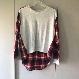 Preloved Checkered Pullover